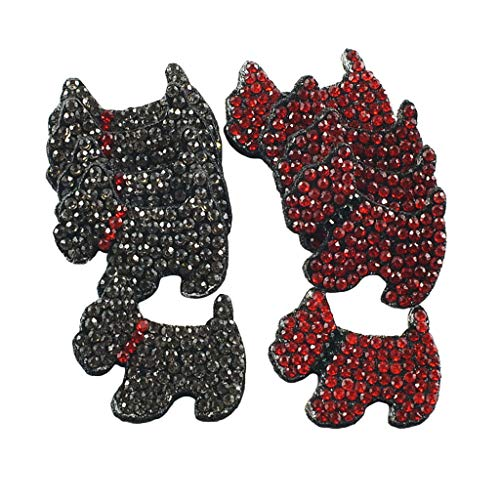10 Pieces Dog Shape Hair Accessories Embellishment, Scrapbooking or Crafts