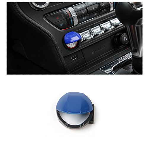 RT-TCZ Engine Start/Stop Button Center Console Dashboard Button Switch Button Cover Trim for Ford Mustang 2015 2016 2017 ()