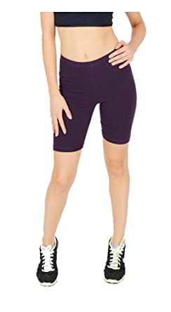 ELEGANCE LADIES CYCLING SHORTS LYCRA STRETCHY COTTON ABOVE KNEE ACTIVE SPORT EVERYDAY SHORT LEGGING