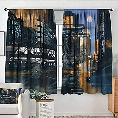 Amazon.com: RenteriaDecor Futuristic,Curtain rods Cyberpunk ...