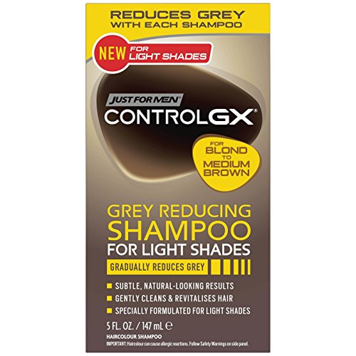 Just for Men Control Gx Grey Reducing Shampoo, Blonde & Medium Brown, 5 fl oz (Pack of 2)