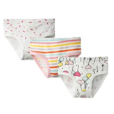 29614efee6a6 BOBORA Girls Briefs, Toddler Kids Cotton Knickers Shorts Panties Cartoon  Pattern Underwear Pack of 3 for 2-10Years Old Children: Amazon.co.uk:  Clothing