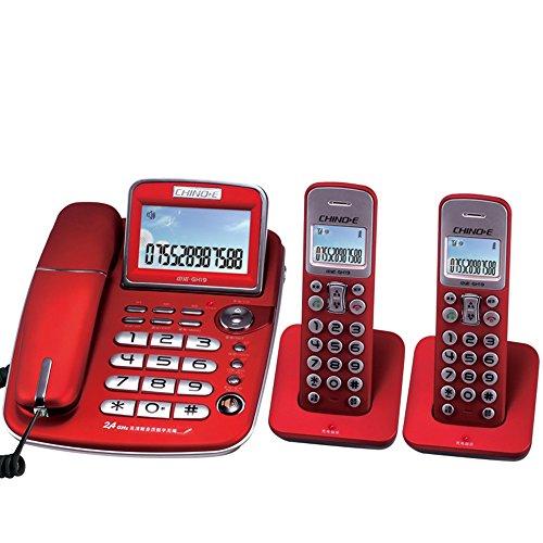 Digital cordless telephone, wireless landline sub-machine, white backlight home business office telephone, one for one, one for two Corded and Cordless Combo Telephone Kit Fyxd