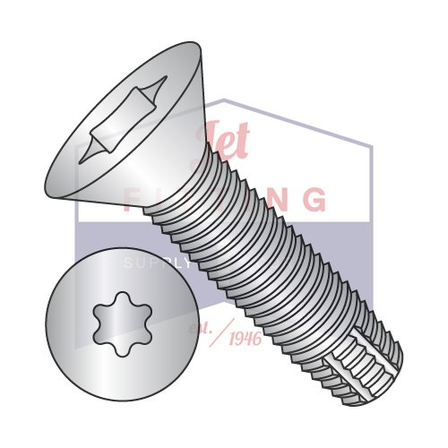 5/16-18X1 1/2 Type F Thread Cutting Screws | Six-Lobe (Torx) | Flat Head | 18-8 Stainless Steel (QUANTITY: 600) by Jet Fitting & Supply Corp