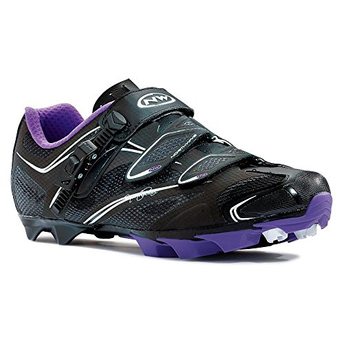 Northwave Katana SRS Mountain MTB Womens Shoes US 6.5/EU 38 Black/Violet by Northwave