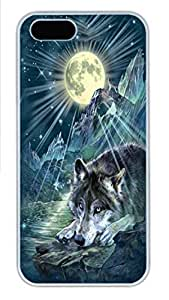 IPhone 5/5S Case Wolf Night Symphony PC Hard Plastic Case for iPhone 5/5S Whtie by lolosakes by lolosakes