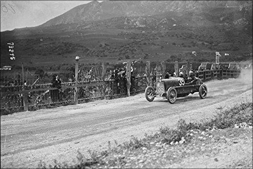 Targa Wall - 24x36 Poster . Antonio Ascari In His Alfa Romeo At The 1922 Targa Florio