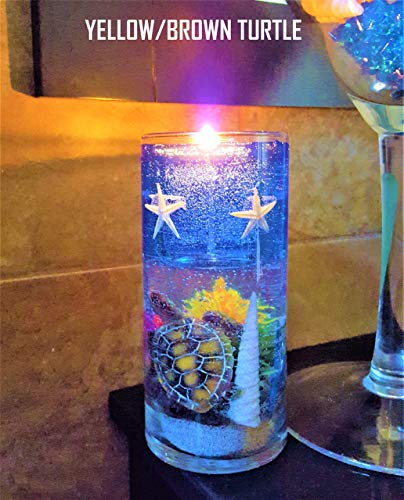 Gel Candle Embeds - Reusable Gel Wax Candle with Turtle & Star Fish Details