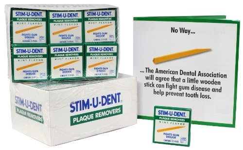 Stim-U-Dent Plaque Removers 25 each packs - 144 packs **made in china** by - In Chino Malls
