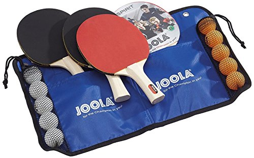 Fantastic Deal! JOOLA Family Table Tennis Set with 4 Spirit Rackets and 10 Balls