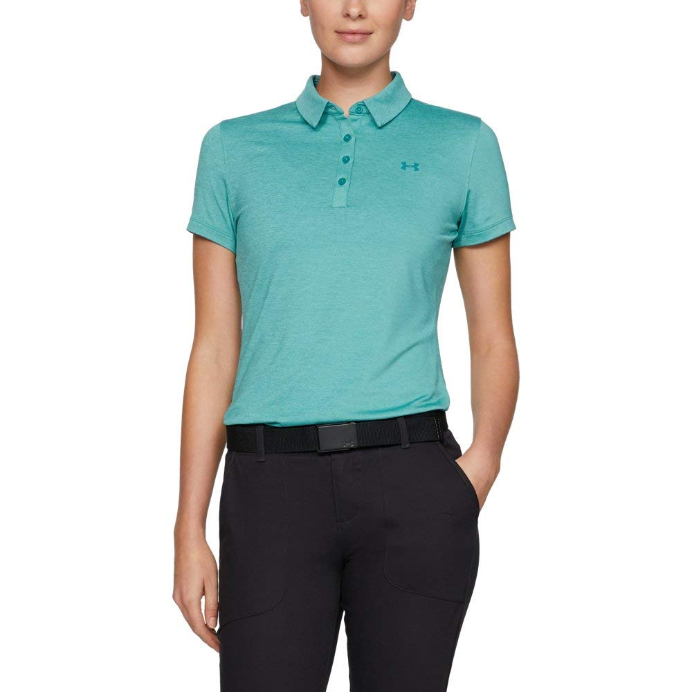 Under Armour Womens Zinger Short Sleeve Golf Polo, Dust (416)/Dust, X-Small