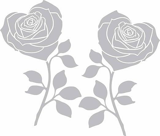 Flores – grabado efecto – adecuado para mamparas de ducha, patios ...