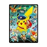 Pokemon Pikachu Eevee Custom Personalized Woolen Blanket Fleece Blanket Indoor and Outdoor Blanket Travel Blankets 58x80 Inches (Large)