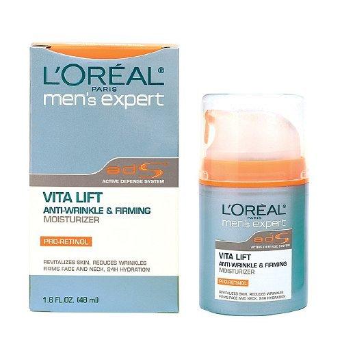 (L'Oreal Paris Men's Expert Vita Lift Anti-Wrinkle & Firming Moisturizer 1.6 fl oz (Pack of 2))