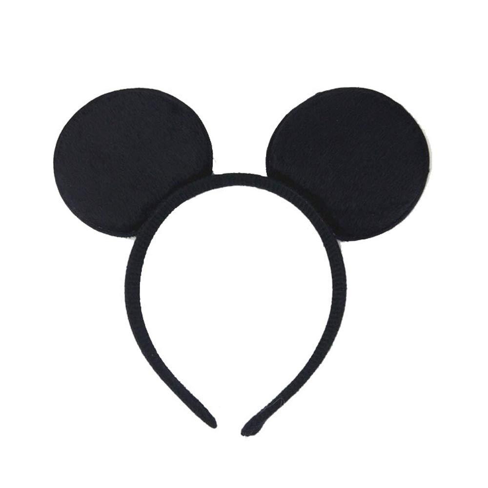 Serre-tête noir oreilles de Minnie Mouse avec nœud rouge à pois blancs pour enfants et adultes 4 couleurs différentes rouge