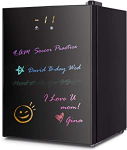Mini Freezer Countertop, Opaque Glass Door Compact Upright Freezer with a Removable Basket/a Removable Shelf, from 7 ℉ to -11℉/ LCD Display Screen Muti-size (2.1 CU FT)