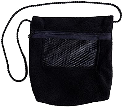 Bonding Carry Pouch for Sugar Gliders and other small pets (Black) by SunCoast Sugar Gliders
