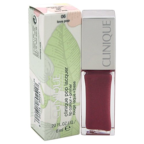 Clinique Lacquer Lip Color Plus Primer, 06 Love Pop, 0.2 Ounce