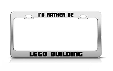 Amazon.com: I'D RATHER BE LEGO BUILDING Funny Hobby Metal License ...