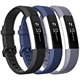 what are the neutral colors Vancle for Fitbit Alta HR/Ace Bands and Alta Bands, Adjustable Replacement Accessories Wristbands for Fitbit Ace/Alta and Alta HR, Black Blue Gray, Large