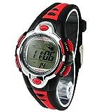Vavna Flash Lights 50m Waterproof Chronograph Digital Boys Girls Sports Watch Alarm (red)