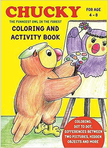 Chucky Libro Para Colorear Y Actividades Para Niños De 4 A 8