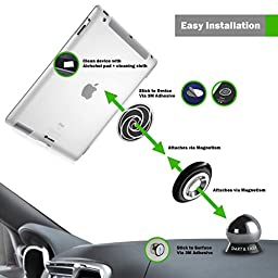 #1 SMART & EASY Magnetic Cell Phone Holder - Cell Phone Holder for Cars, Motorcycles, Trucks, RVs, Boats - Magnetic Cell Phone Mount - Dashboard Cell Phone Holder - Fits All Cell Phones (SILVER)