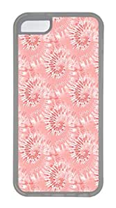 IMARTCASE iPhone 5C Case, Red Tie Dye Seamless Case for Apple iPhone 5C TPU - White