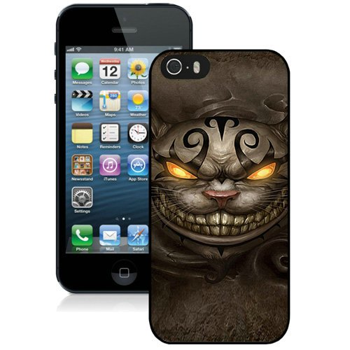 Coque,Fashion Coque iphone 5S Alice Madness Returns Cheshire Cat Ps4 Noir Screen Cover Case Cover Fashion and Hot Sale Design
