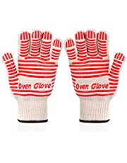 Oven Gloves,Oven Glove,Oven Mitts, Heat Resistant with Non-Slip Silicone Grip (2)