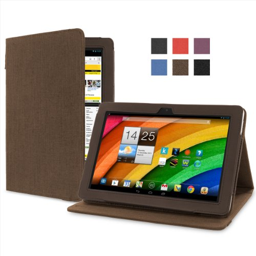 Cover-Up Acer Iconia A3 / A3-A10 (10.1-inch) Tablet Version Stand Natural Hemp Cover Case - Cocoa Brown