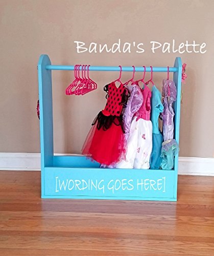 Dress Up Station (Personalized) - As Seen on Pinterest, Dress Up Storage, Hero Up, Closet, Costume Storage, Dress Up Center, Princess Closet, Pretend. Mirror and Hook included -