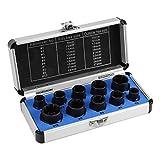10 Pcs Nut Remover, Drive Socket 9-19mm Remover Set Damaged Bolt Nut Screw Remover Extractor Bolt Removal Set Locking Socket Tools Kit