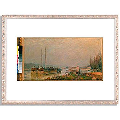 アルフレッドシスレー「At the riverbank of the Seine. 1879 」 インテリア アート 絵画 プリント 額装作品 フレーム:装飾(銀) サイズ:L (412mm X 527mm) B00NKTONLA 3.L (412mm X 527mm)|5.フレーム:装飾(銀) 5.フレーム:装飾(銀) 3.L (412mm X 527mm)
