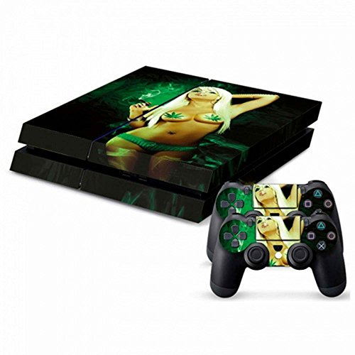 MODFREAKZ™ Console and Controller Vinyl Skin Set - Pot Weed/Naked Girl for Playstation 4
