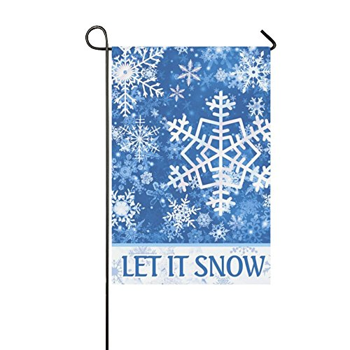 Rossne G sun Garden Flag for Winter Christmas Let It Snow Holiday Decoration Double Sided 12.5
