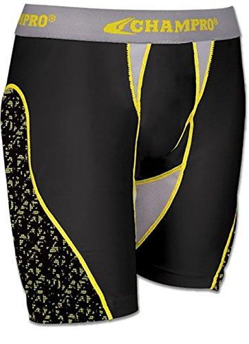 Champro Womens Line Drive Sliding Short,Black,Medium (Sliding Softball Shorts)