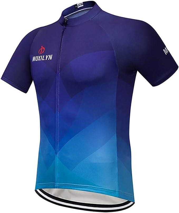 Moxilyn Camisetas de Ciclismo para Hombre, Camiseta Corta, Top de ...