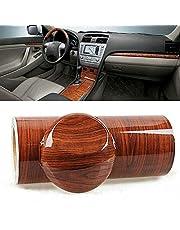 High Glossy Wood Grain Textured Vinyl Sticker DIY Film Wrap Automobiles Waterproof Vinyl Self Adhesive PVC Carbon Car Decoration