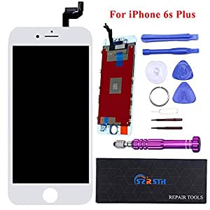 ï¼·hite LCD for iPhone 6S Plus 5.5 inch - RSTH LCD Screen Touch Digitizer Replacement with 3D Touch Frame & Repair Tools Kit Display