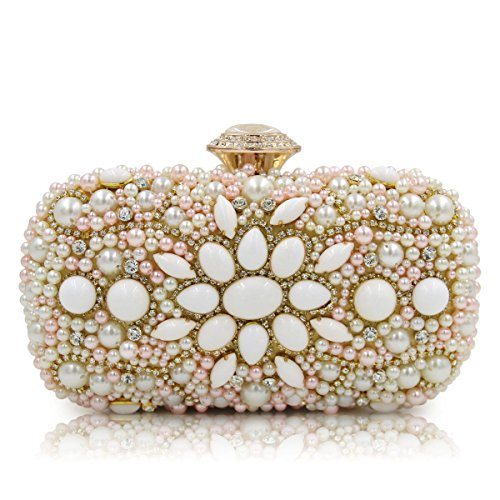 Luxury Flower Bags Prom Evening Bags Color Nude Clutch Rhinestone Flada Party F5YHdnqF