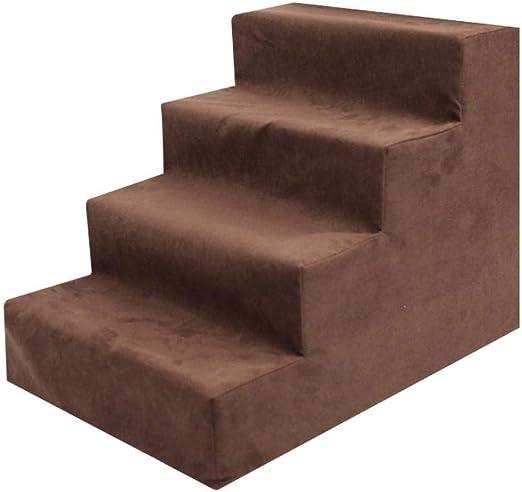 Kitabetty Escaleras Confort para Mascotas, peldaños para Mascotas con Escalera de Esponja para Camas Altas y sofá, Lavables y extraíbles portátiles para Perros pequeños y Mascotas, 3 Capas / 4 Capas: Amazon.es: