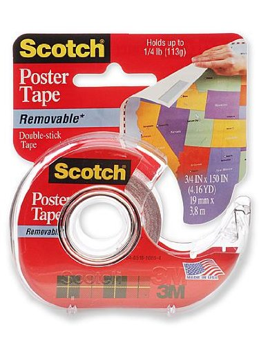 3M Scotch Poster Tape Removable 3/4 in. x 150 in. roll [PACK OF 4 ]