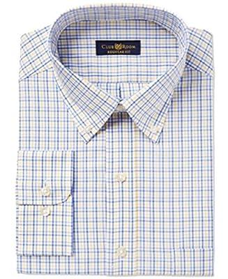 Club Room Men's Estate Classic-Fit Plaid Dress Shirt