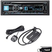 Alpine CDE-164BT Advanced Bluetooth CD Receiver and Sirius XM tuner bundle