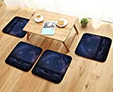 Printsonne Comfortable Chair Cushions Massive Milky Way Over The Sea Appears to Dark Matter Halo Spread Out in Solar Cente Reuse can be Cleaned W17.5 x L17.5/4PCS Set