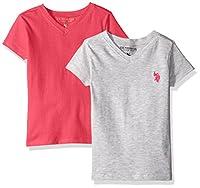 U.S. Polo Assn Girls' 2 Pack: Short Slee...