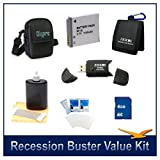 NB-6L Battery 8 pc Kit 8GB SD Card & USB Reader Deluxe Carrying Case Lens Cleaning Kit Tri-fold Card Wallet Screen Protectors Canon Powershot SD4000 SX260 D10 SX280HS SX500IS 500HS SX500 S95