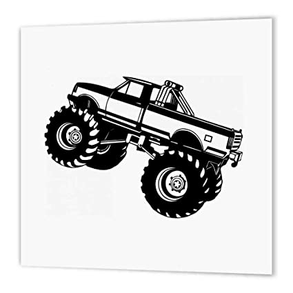 3drose Ht 157406 2 Monster Truck Black Monster Truck Iron On Heat Transfer Paper For White Material 6 By 6 Inch Amazon In Electronics