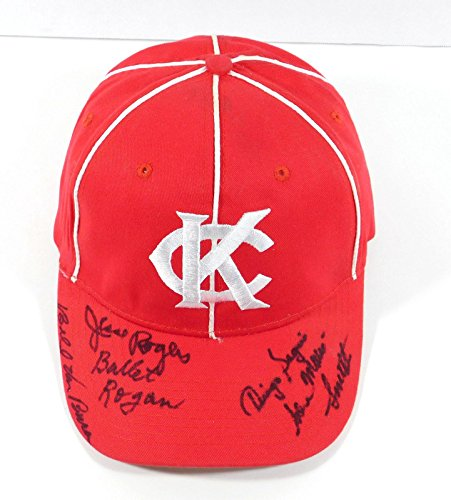 Bullet Rogan + 3 Others Signed Kansas City Monarchs Baseball Hat 4 Autos - Autographed Wrestling Miscellaneous Items